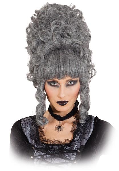 Perücke Lady Pompadur, grau-meliert