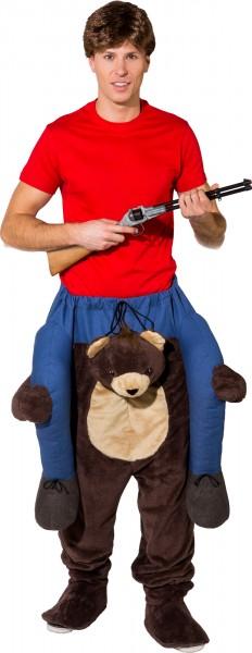 Fasching Kostüm Erwachsene Huckepack Bär