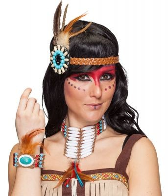 Fasching Indianer Schmuck Set 3tlg.