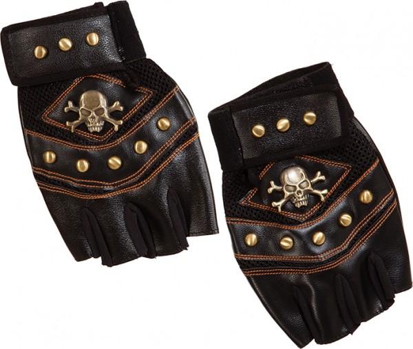 Fasching Handschuhe Pirat de Luxe schwarz