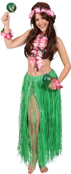 Hawaii-Set, pink 4-tlg. (Kette, Kopfband, Armbänder)