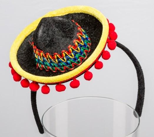 Minihut Sombrero mit Haarreif