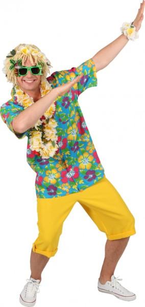 Hawaiihemd, blau - Größe: S - L