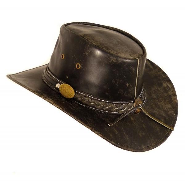 Echt Leder Cowboyhut Westernhut - Buff Antique Split