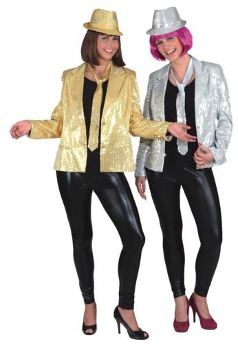 Damen Paillettenjacke, gold (mit Futterstoff) - Größe: 36 bis 44