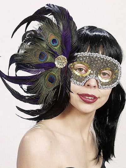 Faschings Maske Pfau de Luxe