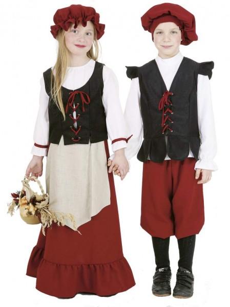 Bauern Junge (Barett, Hemd , Weste, Hose) 116 - 164