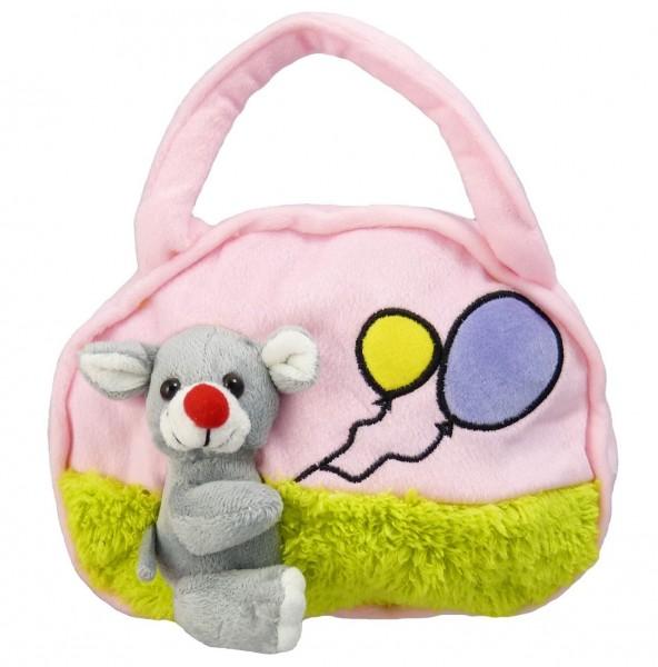 Kindertasche - Maus, rosa -für Jungen und Mädchen - mit Reißverschluß