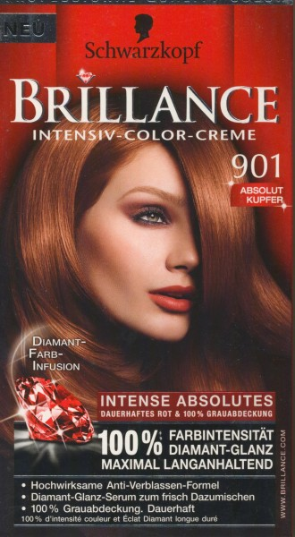 Brillance Intensiv-Color-Creme 901 Absolut Kupfer
