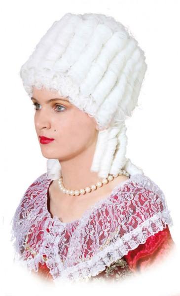 Perücke Marie Antoinette, weiß