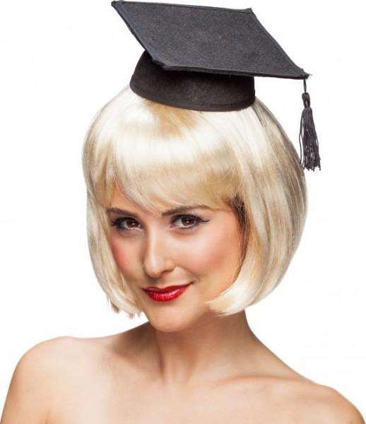 Mini-Absolventenhut mit Haarreif
