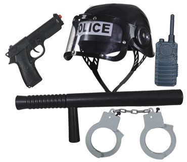 Polizei-Set: Accessoires für das Polizei-Kostüm