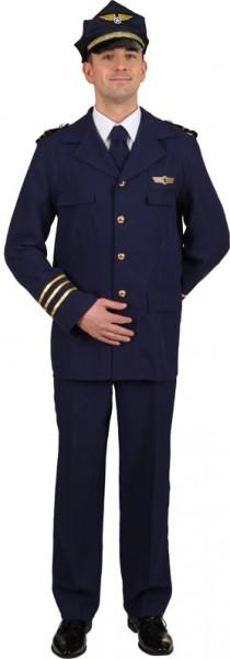 Flugkapitän (Jacke, Hose, Krawatte) - Größe: 50/52 - 58/60