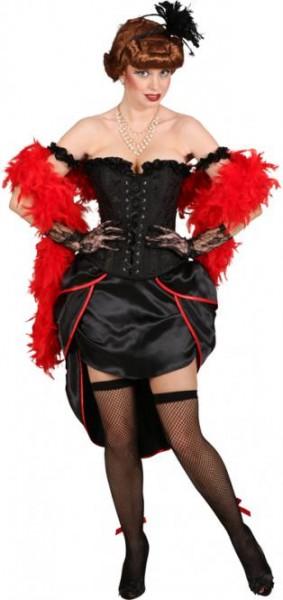 Burlesque-Korsage, schwarz in den Größen S bis XL