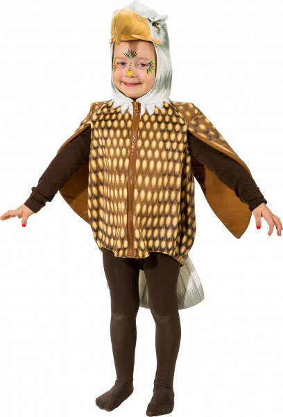 Fasching Kostüm Kinder Adler Weste - Weste mit Kapuze Gr. 104