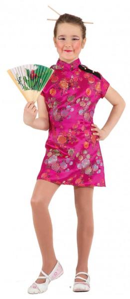 Faschingskostüm Chinesin pink (Kleid) - Größe: 116 - 164