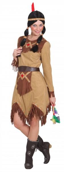 Indianerin Taluha (Kleid, Schürze) - Größe: 36 - 46