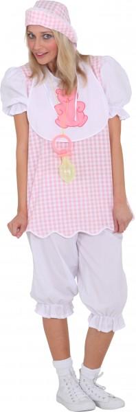 Baby Girl, rosa (Mütze, Oberteil, Hose) - Größe: 36/38 - 44/46