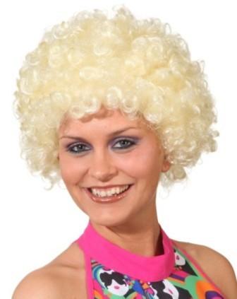 Faschingsperücke Hair, kleine Locke blond