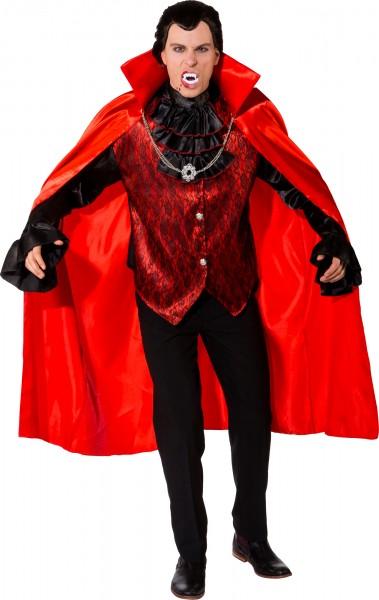Fasching Halloween Vampir Herr - Hemd mit Jabot und Umhang