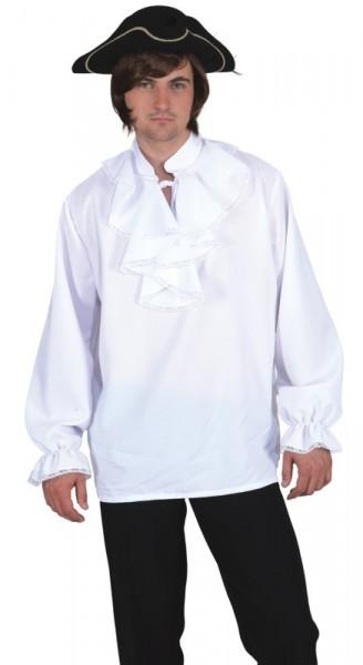 Herrenhemd mit Rüschen - schwarz und weiß - Größe: 50/52 - 58/60