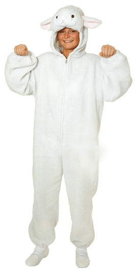 Schaf, weiß für Damen und Herren (Overall) - Einheitsgröße