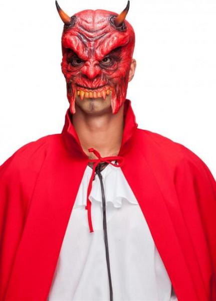 Halbmaske Teufel, Latexmaske