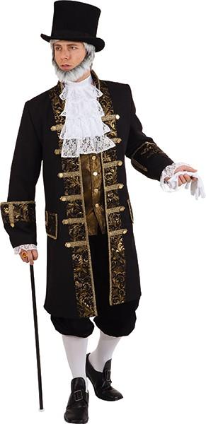 Herrenjacke Lord, schwarz/gold - Größe: 46/48 - 58/60