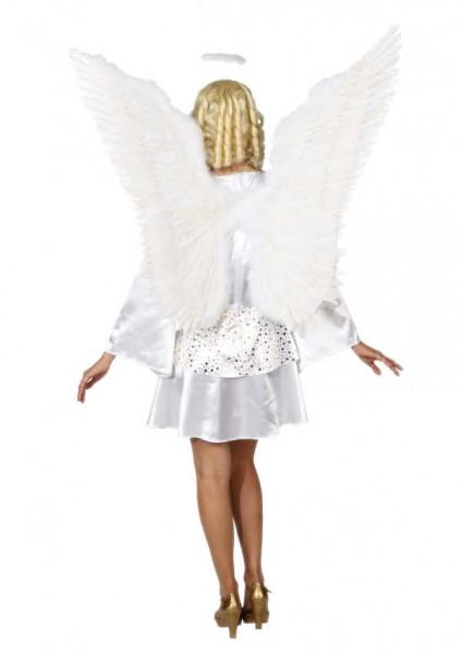 Faschingszubehör: Federflügel weiß oder rot ca. 100 cm