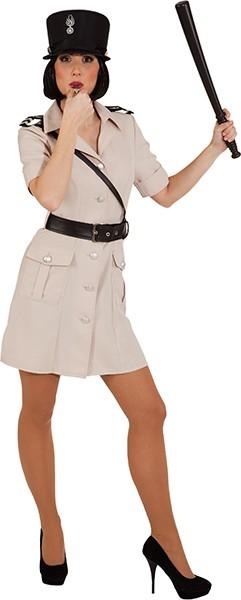 Französische Polizistin (Kleid mit Uniformgürtel) - Größe: 36 - 44