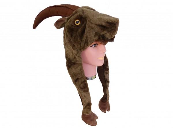 Tiermütze Plüsch Mütze Steinbock