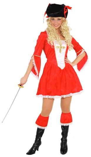 Faschingskostuem Damen Musketierfrau rot