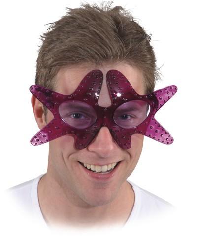 Faschingszubehör Brille Seestern