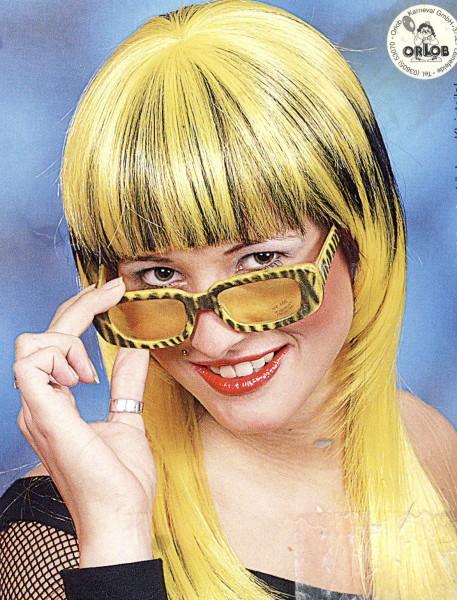 Faschingsperücke Fancy, gelb-schwarz High Fashion