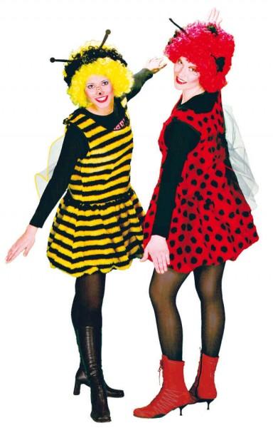 Fasching Kostüm Erwachsene Plüschkleid Kesse Biene