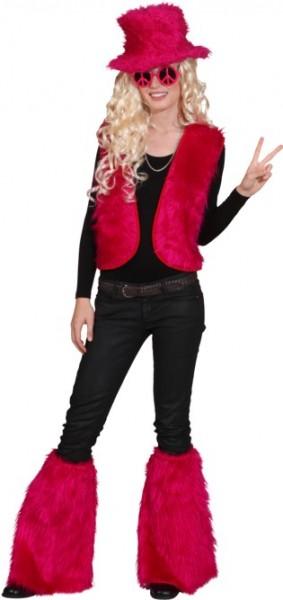 Fellweste, pink in den Größen S/M bis L/XL