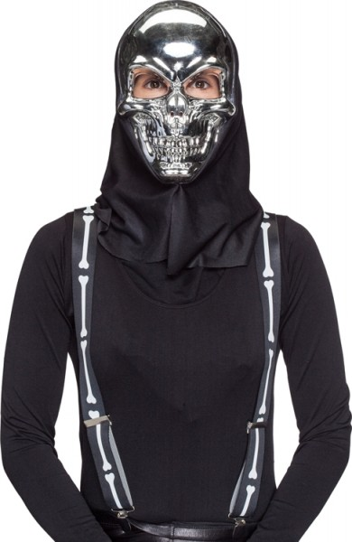 Fasching Halloween Totenkopfmaske silber