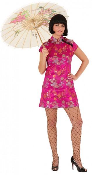 Sexy Chinesin, pink (Kleid) - Größe: 36 - 44