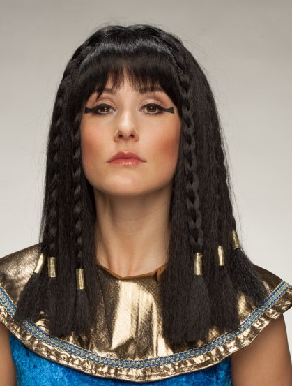 Fasching Perücke Damen Ägyptische Königin lang
