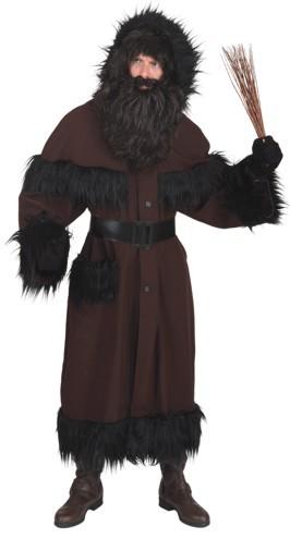 Weihnachtskostüm Knecht Ruprecht Mantel (schwarz-braun)