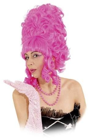 Perücke Lady Pompadur, pink