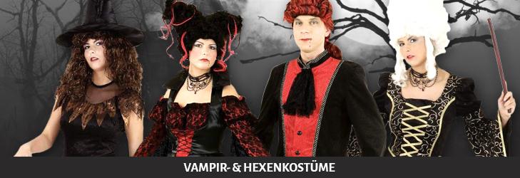 Vampir- und Hexenkostüme