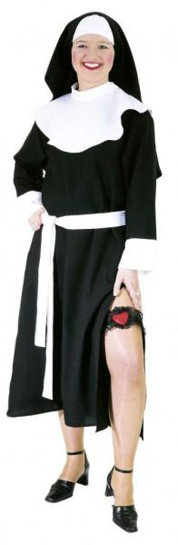 Faschingskostüm Sexy Nonne mit Haube - Größe 36 - 50