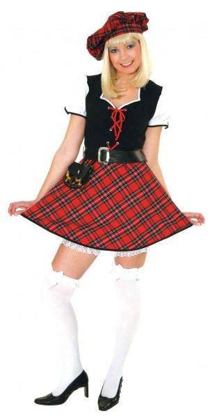 Sexy Schottin (Kleid, Gürtel, Barett) - Größe: 36 - 42