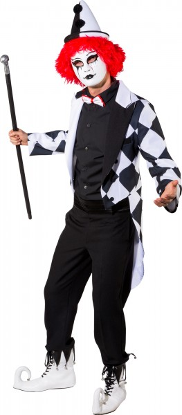 Fasching Kostüm Herren Frack Pierrot