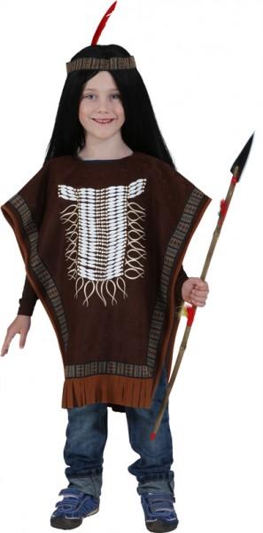 Indianer Poncho - Größe: Unisize