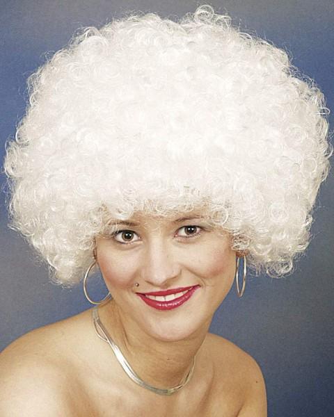 Perücke Hair große Locke, weiß