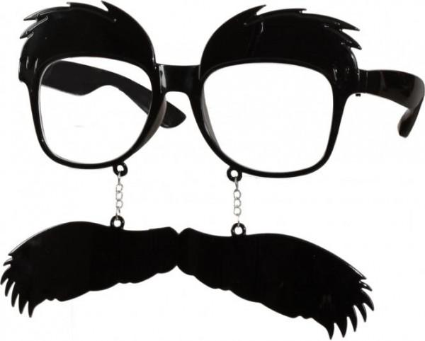 Faschingszubehör Brille Schnäuzer
