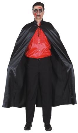 Umhang mit Stehkragen, schwarz - Größe: 140 cm