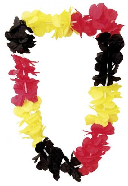 Blütenkette, schwarz-rot-gold